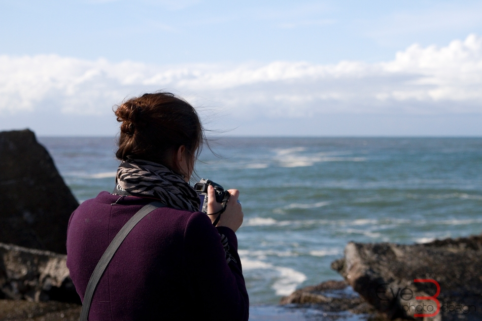 Photographer at Nobbys Breakwall